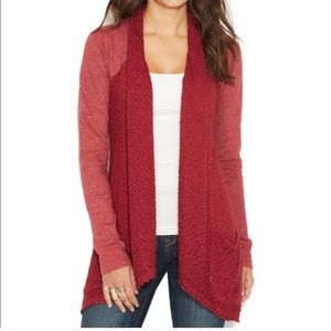 Red Lucky Lotus Cardigan by Lucky Brand